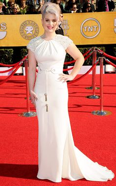 I loved teh dress.  It fit her to a tee, still hate the hair color.  With a different hair color this dress was an A. B+