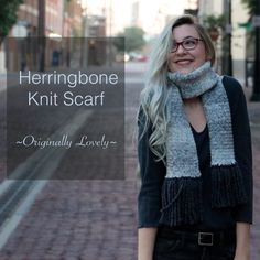 Herringbone Knit Scarf | Originally Lovely
