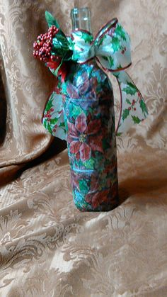 Poinsettia wine bottle I created