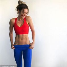 Lucrative deal: Gold Coast-based fitness blogger and internationally-famous model Emily Skye (pictured) has partnered with Reebok in order to release a new functional training shoe