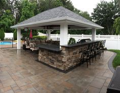Dix Hills, NY 11746 | Stone Creations of Long Island Pavers and Masonry specializes in masonry design and outdoor living, serving communities all across Long Island, Queens and Brooklyn in all aspects of home improvement and repair. #dixhills #pavilion - www.stonecreationsoflongisland.net