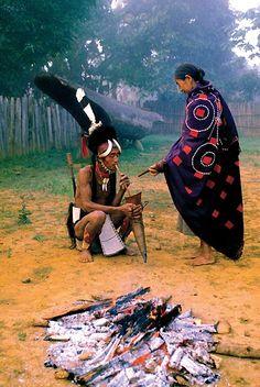 Myanmar Adventure Naga Warrior in the misty morning