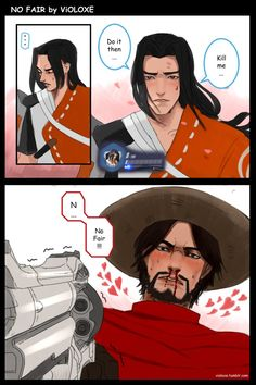 comic: NO FAIR Young Hanzo looks so beautiful with his long hair lol. What will McCree do? Overwatch Hanzo, Overwatch Comic, Overwatch Fan Art, Really Fun Games, Bright Art, Gay Art, Funny Comics, A Team, Character Art