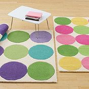 green, pink & yellow rug for D's room?