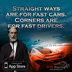STRAIGHTWAYS ARE FOR FAST CARS. CORNERS ARE FOR FAST DRIVERS. #fastcars #racinggame #iosgames #carracing
