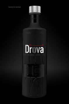 Drova vodka by Andrey Antoshkin, via Behance. Subliminal #vodka #packaging PD spirit mxm