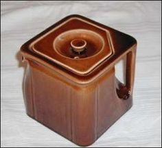 An art deco style cube teapot from Gibson and Sons of Burslem