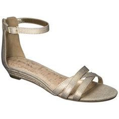 Women's Merona? Tori Ankle Strap Wedge Sandal - Assorted Colors