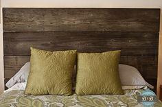 refurbished wooden headboard