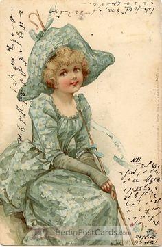 Ellen Jessie Andrews - English - (1857-1907) vintage postcard