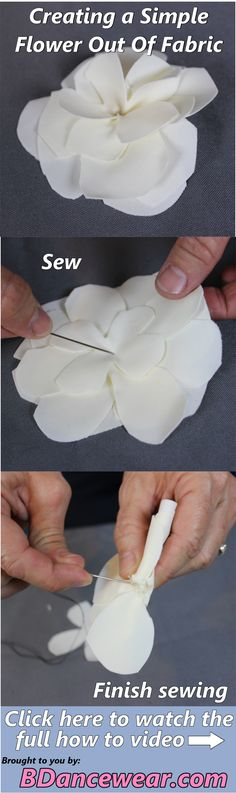 How to create a simple flower out of fabric for your dance costume.