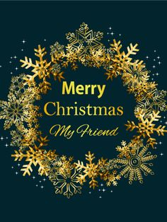 Christmasbusiness greetings section an ecard to send to business send free golden christmas wreath card for friends to loved ones on birthday greeting cards by davia its free and you also can use your own customized m4hsunfo