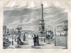 Restauradores, 1886. Gravura de R. Christino