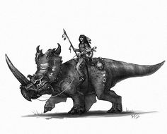 old west Dino rider. I love Native American culture and an old west series wouldn't be complete without a few Indian warriors. Dinosaur Drawing, Dinosaur Art, Old West, Jurassic Park World, Extinct Animals, Prehistoric Creatures, Westerns, Fantasy Creatures, Insta Art