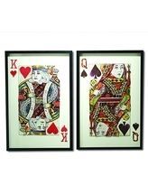 Shop Play Your Cards Right Paper Collage Wall Art, Set of 2 from Two's Company at Neiman Marcus Last Call, where you'll save as much as on designer fashions. Play Your Cards Right, Queen Of Spades, Two's Company, Wall Art Sets, Wall Collage, Decoration, Paper Cutting, Neiman Marcus, Vibrant Colors
