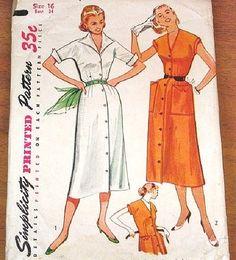 Vintage shirtwaist pattern
