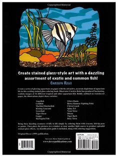 Amazon.com: Aquarium Fish Stained Glass Coloring Book (Dover Nature Stained Glass Coloring Book) (9780486284798): Carolyn Relei: Books