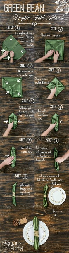 como dobrar um guardanapo 2