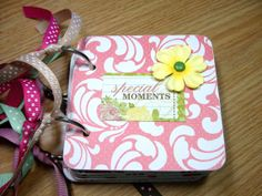 Special Moments Mini Album Chipboard Scrapbook by HampshireRose, $25.00