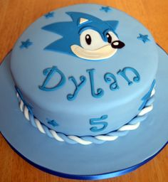 Sonic the Hedgehog Cake Sonic Birthday Parties, Sonic Party, Elmo Birthday, Sonic The Hedgehog Cake, Sonic Cake, Cupcake Birthday Cake, Cupcake Cakes, Hedgehog Birthday, Specialty Cakes