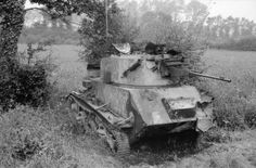 Vickers Light Tank Mk VIC knocked out during an engagement on 27 May 1940 in the Somme sector.
