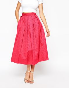 Изображение 4 из Пышная жаккардовая юбка миди со складками Closet