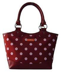 Sachi Fashion Insulated Lunch Bag, Burgundy with White Dots, $23.58 Lunch Boxes For Women, Cute Lunch Boxes, Designer Lunch Bags, Adult Lunch Box, Polka Dot Bags, Polka Dots, Insulated Lunch Bags, Reusable Lunch Bags, Lunch Tote