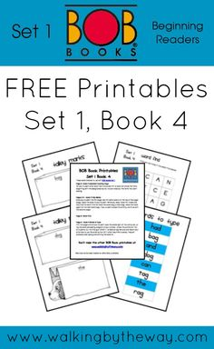 FREE BOB Book Printables for Set 1 Book 4 from Walking by the Way