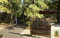 South Arkansas Arboretum is adjacent to El Dorado HS on west gulf coastal plain - Arkansas State Parks.  The South Arkansas Arboretum covers 13 acres featuring plants indigenous to Arkansas's West Gulf Coastal Plain and exotic species including flowering azaleas and camellias.