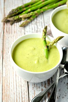 Creamy Asparagus Soup--without cream! from Flavour and Savour