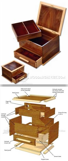 Jewellery Box Plans - Woodworking Plans and Projects   WoodArchivist.com