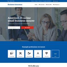 professional business insurance responsive website design