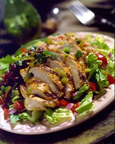 #Lowcarb #weightloss friendly #Grilled Chicken Salad recipe.