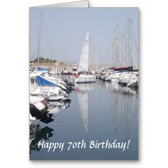 #Sailing #Boat #70th #Birthday Greeting #Card