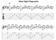 Easy Guitar Christmas Songs • Silent Night • Chords, Tab, Melody, Fingerstyle, Videos.
