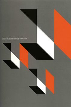 Poster designed by Brian Leuck, Kayo Takasugi, design firm of Grady, Campbell, Inc. for Novum Structures. Image from Graphis Poster Annual 2007, creative director, B. Martin Pederson, published by Graphis Inc.