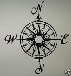 compass rose outdoor decal | ... COMPASS~rose (#1) in Home & Garden, Home Decor, Decals, Stickers