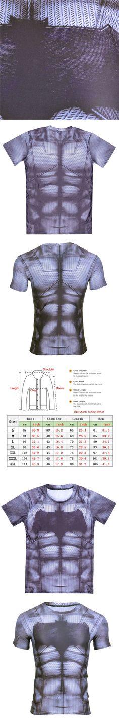 2017 New Fitness Shirt For Men Superhero Batman 3D T shirt Bodybuilding Crossfit t shirt Casual Short Sleeeve t-shirts Tops