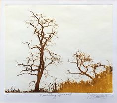 "Landscape Color Etching Trees ""Something Special"" Signed Mystery Artist Framed #Realism"