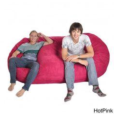 Pink Bean Bag, Bean Bag Sofa, Yellow Fabric, Suede Fabric, Shabby Chic Furniture, Furniture Chairs, Memory Foam, Beans, Shopping