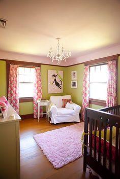 Pink & green nursery