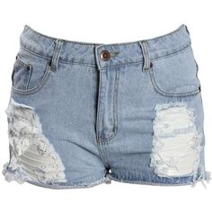 Boohoo Plus Ebony Ripped Denim Short ($30) ❤ liked on Polyvore featuring shorts, bottoms, pants, destroyed denim shorts, distressed shorts, denim hot pants, sequin hot pants and destroyed jean shorts