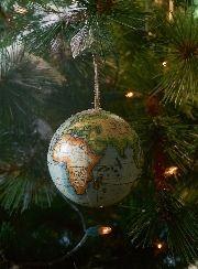 Christmas Globe Ornament Blue - Rivièra Maison - Kerstbal