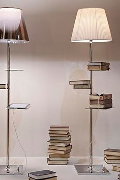 This floor lamp that holds your books AND charges your phone. | 23 Insanely Clever Products For Your Small Space