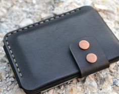 Leather Wallet Wallet-Leather Card Holder by sergklim on Etsy