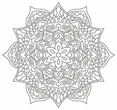 Mandala nr 3 for coloring