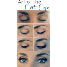 20 Liquid Eyeliner Hacks, Tips and Tricks For The Perfect Cat-Eye (And... ❤ liked on Polyvore featuring beauty products, makeup, eye makeup, eyeliner, eyes, beauty, liquid eye liner, liquid eyeliner and liquid eye-liner