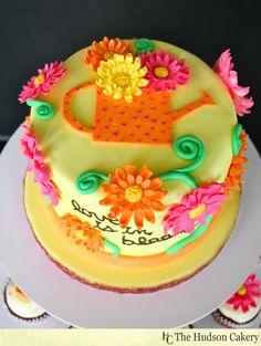 Love is in Bloom Bridal shower cupcakes