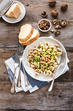 whole wheat pasta with gorgonzola dolce, celery and walnuts  - cellentani…