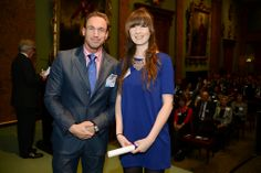 Dr Christian Jessen and Eloise Eddington, our runner up in the Community Award Category